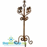 24  Candle Holder Metal  Rustic Tuscany  - Floor/Tabletop