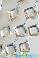 30 Foot Long  Ace of Diamonds  Acrylic Crystal Bead Strands