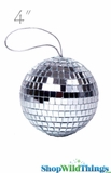 "4"" Mirror Disco Ball Ornament 4"""