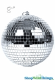 "8"" Mirror Disco Ball w/ Swivel Top"