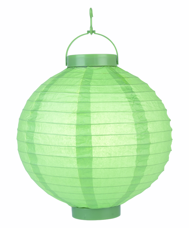 paper lantern apple green led led hanging paper lanterns. Black Bedroom Furniture Sets. Home Design Ideas