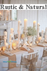 Burlap, Jute & Rustic Decor