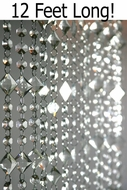 Aces and Eights Beaded Curtain - Crystal - 3' x 12'