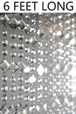 Aces and Eights Beaded Curtain - Crystal - 3' x 6'
