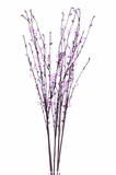 "Acrylic Beaded Floral Spray 35"" Purple"