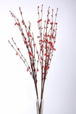 "Acrylic Beaded Floral Spray 35"" Red"