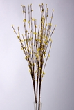 "Acrylic Beaded Floral Spray 35"" Yellow"