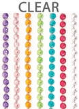 "Acrylic Garland 12 Strands -  Clear 21"" Long Each"