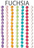 "Acrylic Garland 12 Strands -  Fuchsia 21"" Long Each"