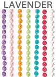 "Acrylic Garland 12 Strands -  Lavender 21"" Long Each"