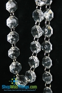Acrylic Garland Strands - Clear Diamonds (1 dozen strands)