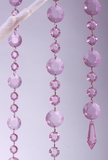 Acrylic Garland Strands - Light Pink Rounds (1 dozen strands)