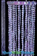 Acrylic Iridescent Streamer Tassels  Baby  - Purple 40""