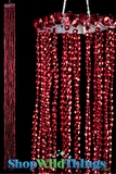 Acrylic Metallic Streamer Tassels  Baby  - Red 40""