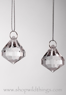 "Acrylic Pendant  ""Harlow""  1.25""  Set of 24"