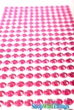 Acrylic Rhinestone Stickers-Fucshia - Strips with 260 Pcs!