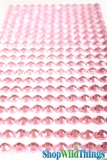 Acrylic Rhinestone Stickers-Pink - Strips with 260 Pcs!