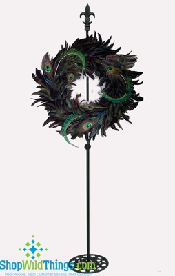 Adjustable Wreath Or Floral Holder Black 2 To 4 Tall