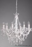 """Aliana"" White & Crystal 6 Light Chandelier - 22"" x 17"""