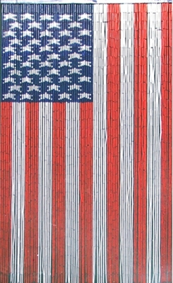 American Flag Curtain Painted Bamboo Shopwildthings Com