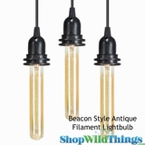 "Antique ""Beacon Style"" Lightbulb  - Cylinder Filament"