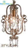 "Antique Gold Beaded Pendant Chandelier ""Style A"""