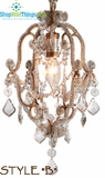 Antique Gold Beaded Pendant Chandelier  Style B