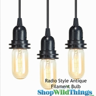 "Antique ""Radio Style"" Lightbulb - Single Loop Filament"