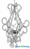 """Aubrianna"" Hanging Fancy Chandelier Style Candle Holder"