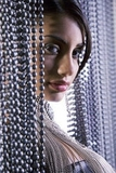 Ballchain Beaded Curtains - Metal Chain Beaded Curtains - Chain Rolls of Beads