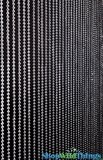 Ballchain Faux Metal Beaded Curtain - Steel 6MM - 3' x 6'