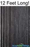 Ball Chain Faux Metal Steel Color Beaded Curtain - 12 Feet Long