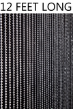 Ballchain Faux Metal Beaded Curtains - Steel 6MM - 3 ft x 12 ft