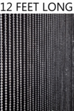 Ballchain Faux Metal Beaded Curtains - Gunmetal - 3 ft x 12 ft