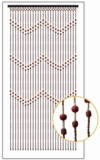 "Bamboo Bead Curtain - Ziggy -  35.5"" x 67"" - 27 Strands"
