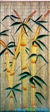 "Bamboo Painted Beaded Curtain ""Bamboo Forest"" - 90 Strands"