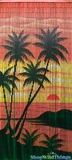 "Bamboo Painted Beaded Curtain ""Diamond Head"" - 90 Strands"