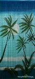 "Bamboo Painted Beaded Curtain ""Kaanapali"" - 90 Strands"