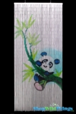 Bamboo Painted Curtain Panda Scene