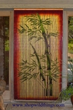 Bamboo Stalks Painted Curtain