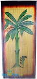 Banana Tree Scene Painted Bamboo Beaded Curtain