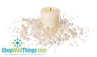 Beaded Candle Ring 2.5  (min 2) - Pearls Cream & Ivory