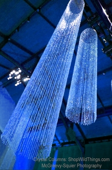 Beaded Crystal Columns - Round or Square