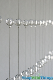 Clear Round Spheres Beaded Curtain - 3 ft x 6 ft