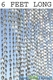 Diamonds Beaded Curtains - Crystal Iridescent 6'