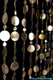 Bold Circles Beaded Curtain - Gold - 3 ft x 7.6 ft