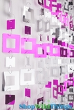 "Beaded Curtain ""Jackson"" PVC Squares - Metallic Pink & Silver"