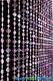 Mackenzie Beaded Curtain - Pink Iridescent - 3 ft x 6 ft