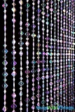 "Beaded Curtain ""Mackenzie"" - Iridescent Violet - Flat Diamonds"