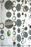 "Beaded Curtain  ""Pussycat"" Silver Circles and Silver PVC Discs (on CBS fts Blue Bloods!)"